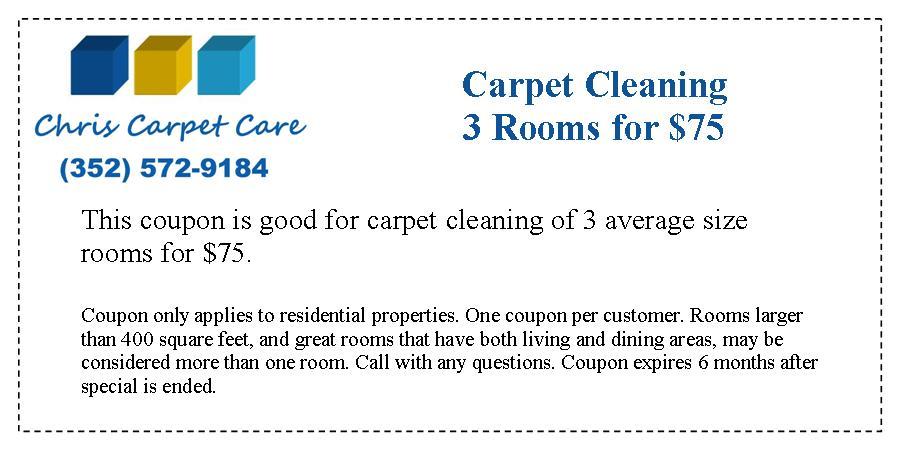 Print Coupon Chris Carpet Care