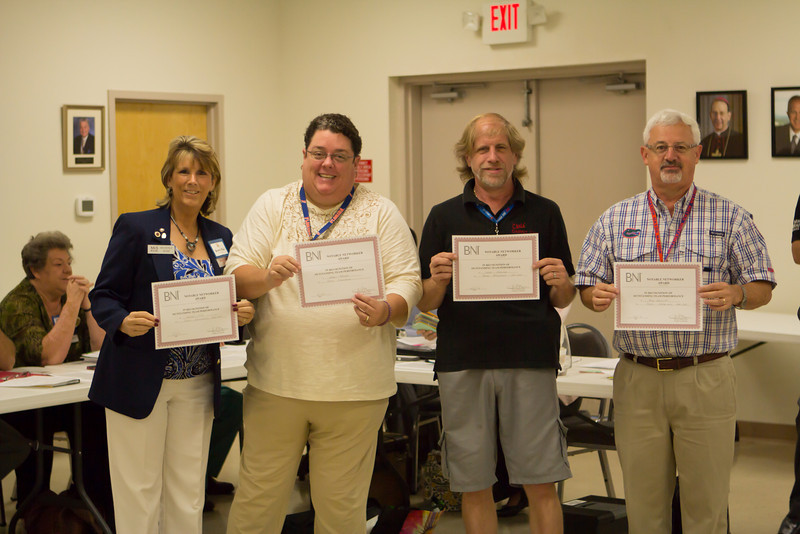 Chris with Other BNI Award Recipients
